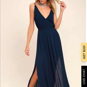 Never worn Lulus low cut open back maxi dress